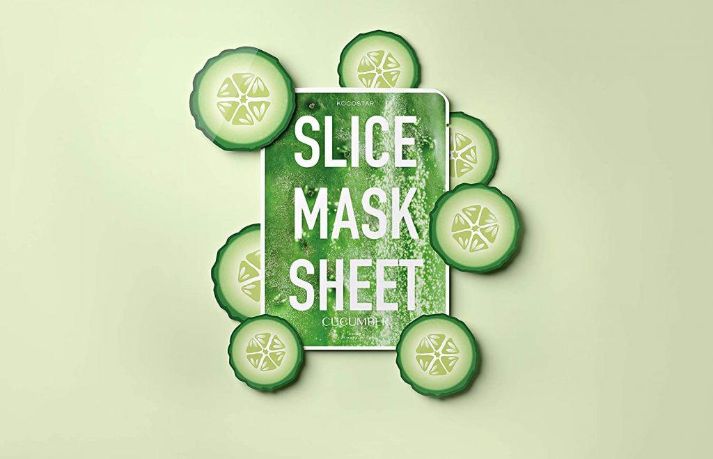 Шийт Маска за Лице с Пачове Kocostar Slice Mask Sheet Cucumber