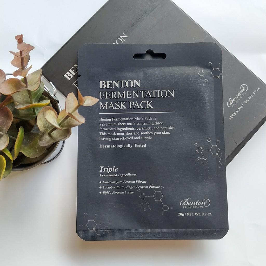 Шийт Маска Benton Fermentation Mask Pack 20g